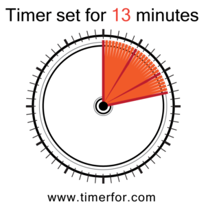 timer for 13 minutes