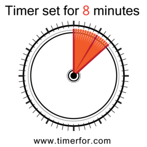 Online timer set for 8 minutes